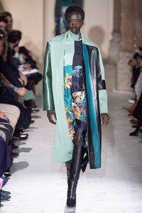 salvatore ferragamo statement coat blue leather