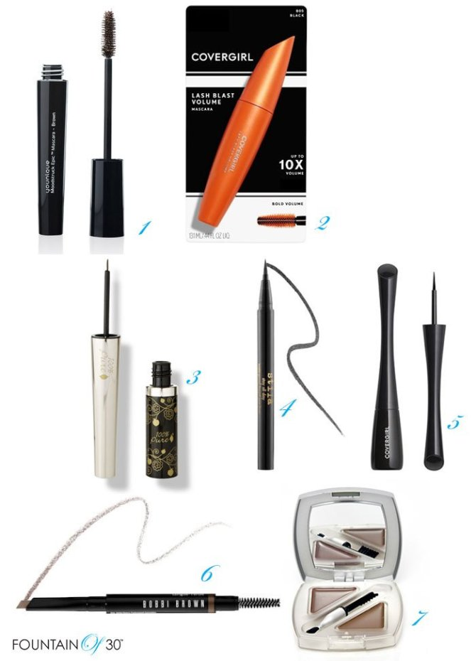 Sweat Proof Mascaras Eye Liners and Brow Makeup fountainof30