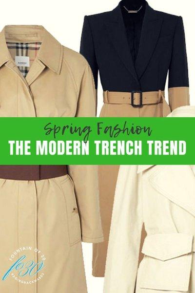 modern trench trend