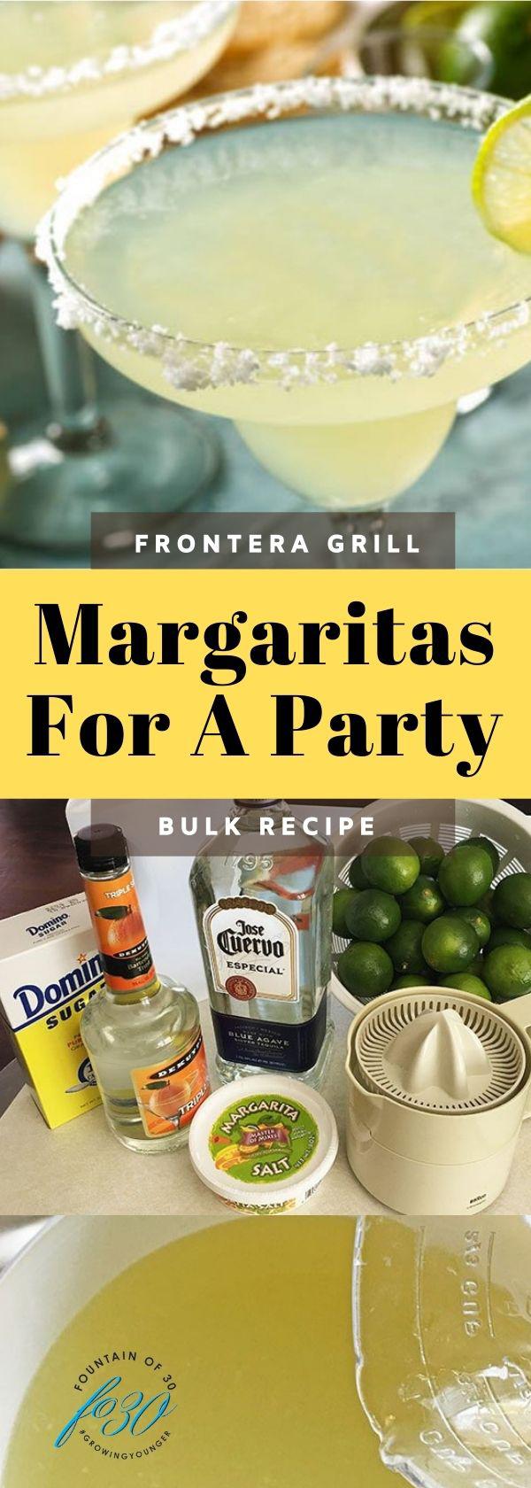 margaritas for a party fountainof30