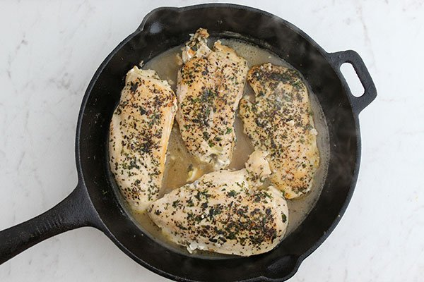 Chicken breast In a Skillet with lemon