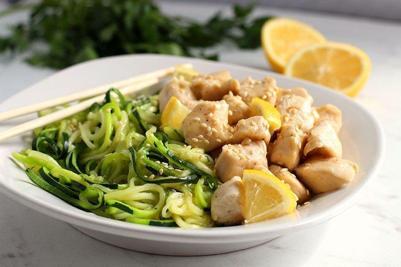 Lemon Chicken Zoodle Bowls