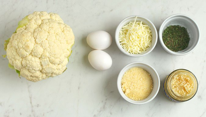 How to make Cauliflower Pizza crust ingredients fountainof30