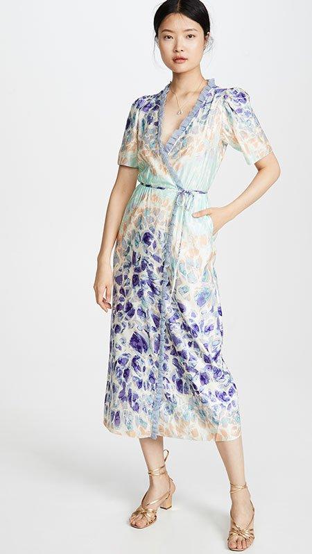 Maximize Your Favorite Body Features waistline wrap midi Dress