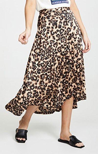 leopard midi skirt J.O.A fountainof30