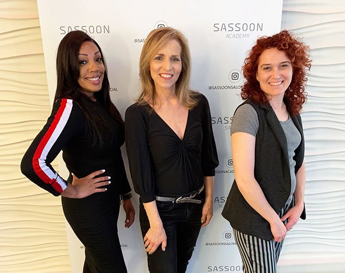 Hairstyling tips Sassoon Salon professionals withg Carol Calacci fountainof30