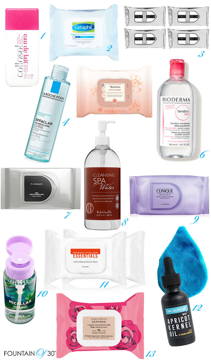 removing makeup for antiaging fountainof30