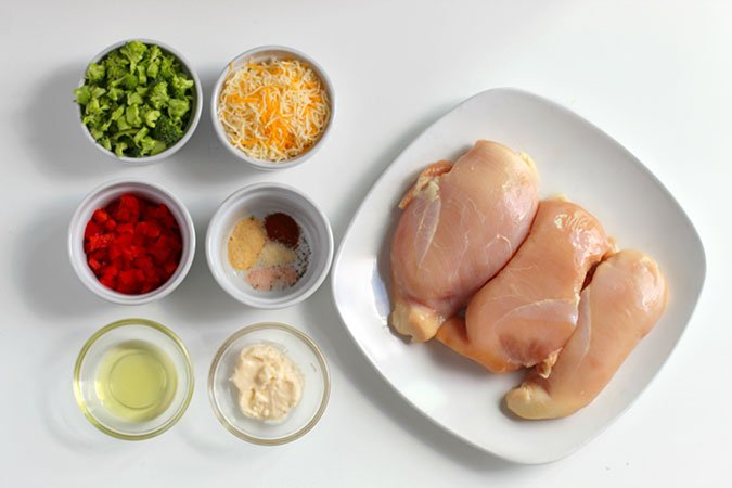 Broccoli Cheese Stuffed Chicken ingredients fountainof30