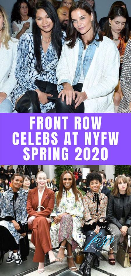 Front Row Celebs At NYFW Spring 2020 fountainof30