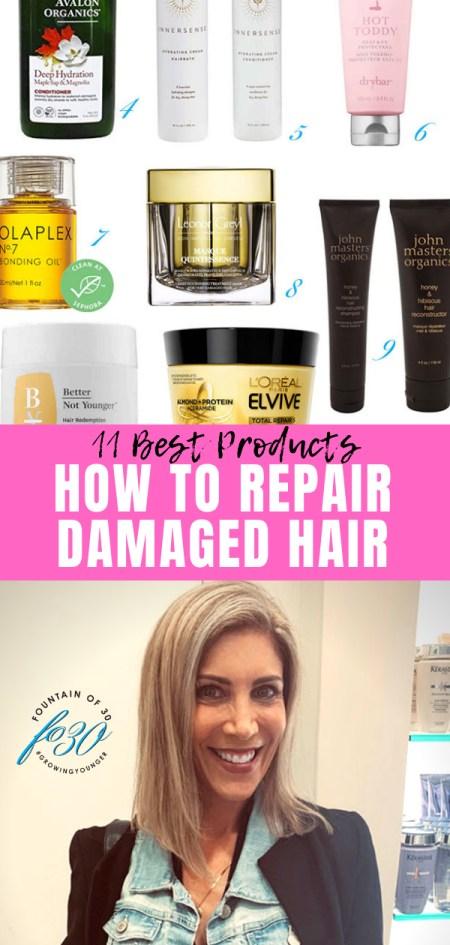how to repair damaged hair fountainof30