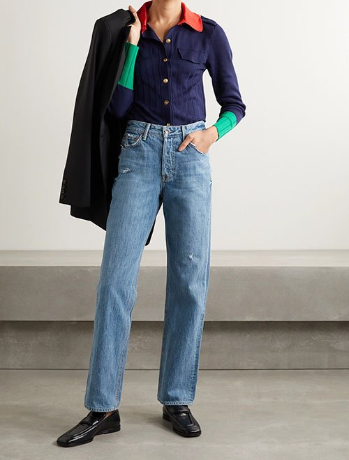 straight leg jeans for over 40 fountainof30