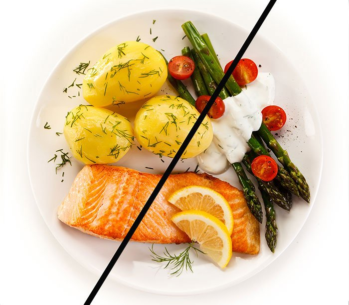 cut meal in half weight loss goals fountainof30