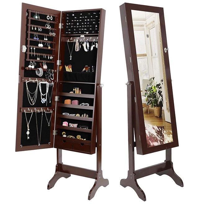 mirrror jewelry cabinet fountainof30