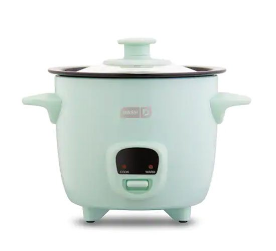 home goods aqua Dash 2-Cup Mini Rice Cooker fountainof30