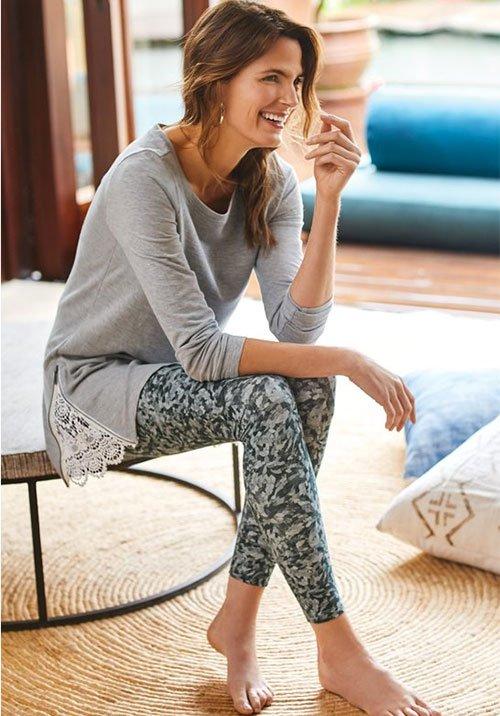 Self Care: Stay-At-Home Wardrobe Printed Leggings fountainof30