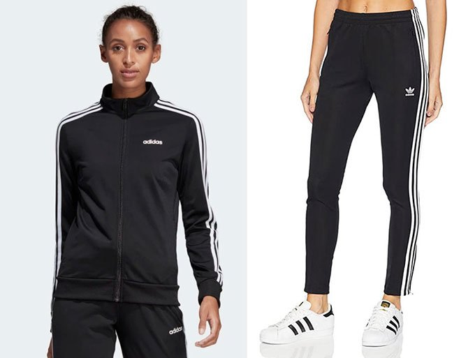 black and white stripes adidas track jacket and pants fountainof30