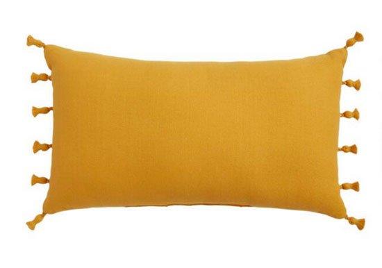 Woven Tasseled Indoor Outdoor Lumbar Pillow fountainof30