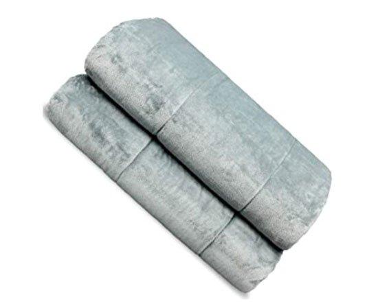 grey velvet Weighted Blanket