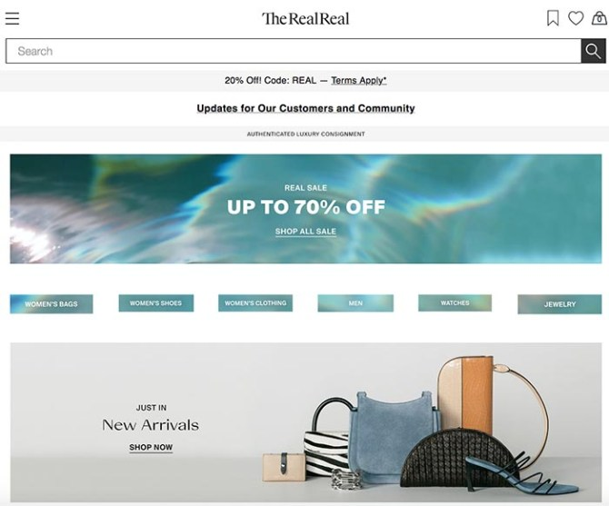 sell your clothes online the realreal screen grab fountainof30