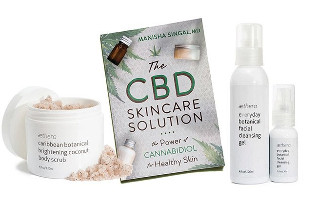 Aethers skincare products and CBD book Healthy Aging Month Giveaways fountainof30