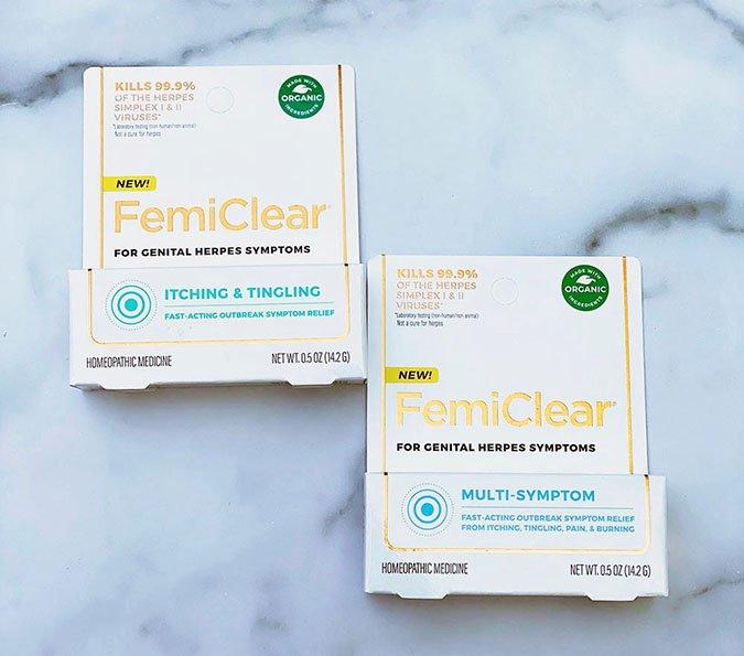 femiclear genital herpes symptom relief