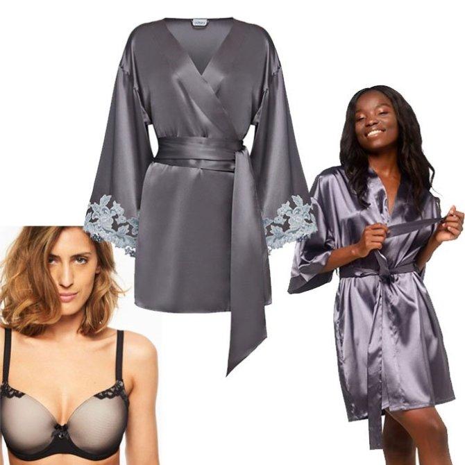 frennch girl look lingerie robe bra fountainof30