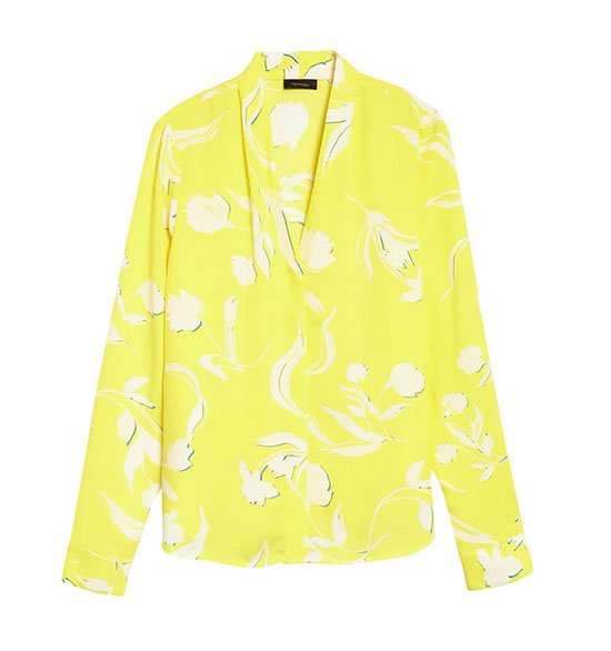 Halogen V-Neck Top yellow
