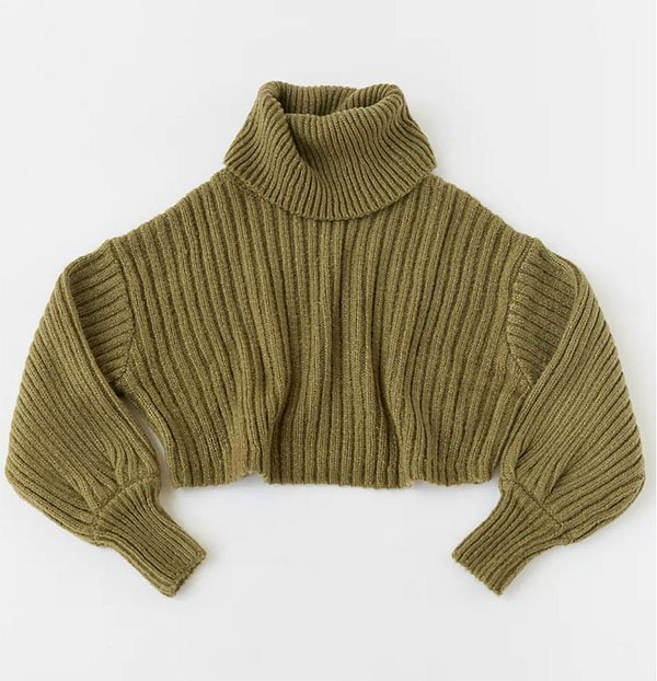 Turtleneck Cropped Sweater fountainof30