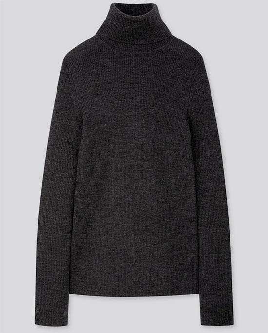 Merino Ribbed Turtleneck Sweater fountainof30
