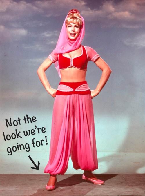 I dream of jeannie barbara eden harem pants