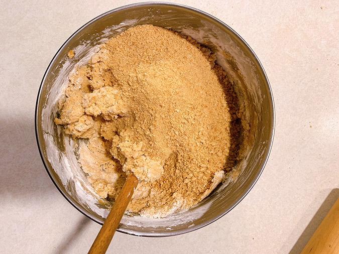 graham cracker crumbs to the mixture