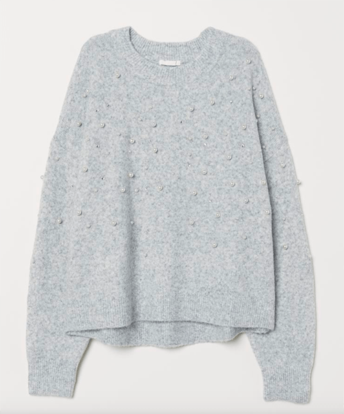 holiday look H&M Bead-embroidered Sweater
