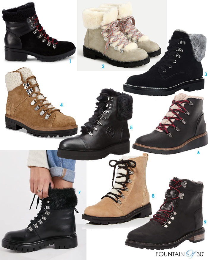 shearling lined boots for less fountainof30
