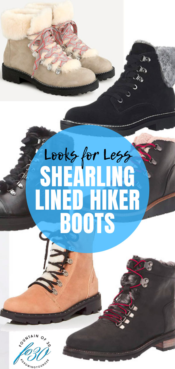 shearling lined hiker boots for less fountainof30
