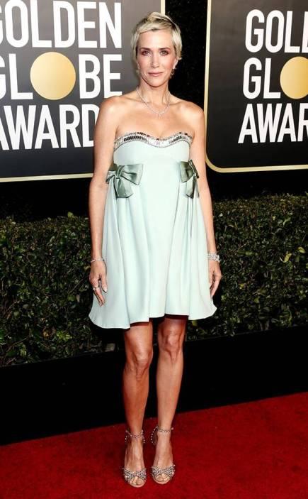 Golden Globes 2021 mini dress Kristen Wiig