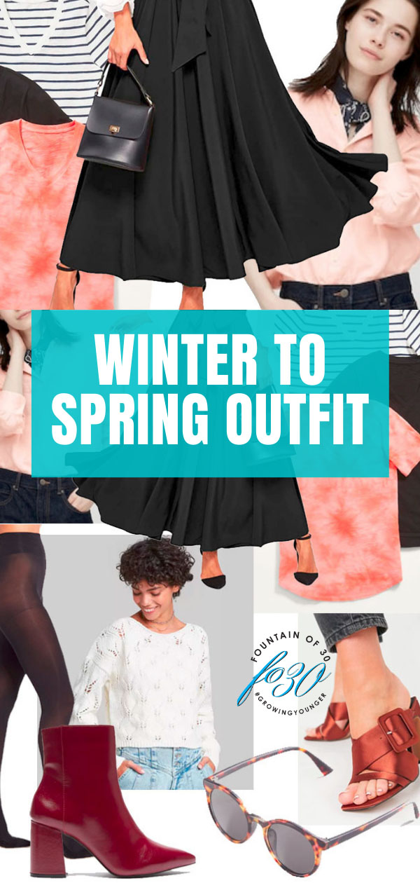 winter to spring outfit fountainof30