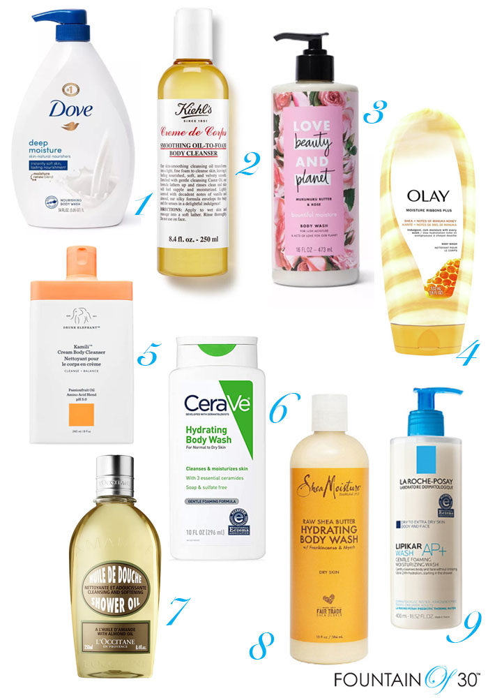 best body washes for moisture fountainof30