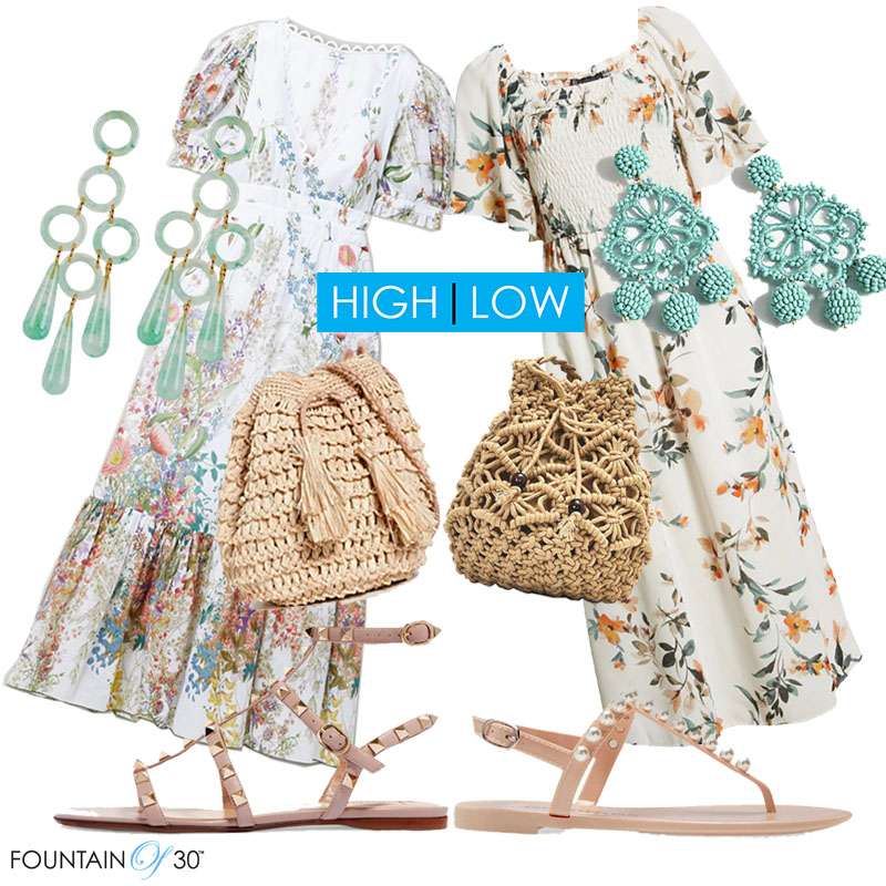 summer dress high low fashion over 40 fountainof30
