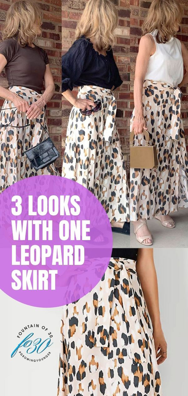 3 looks 2 leopard skirt fountainof30