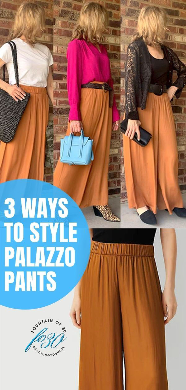 how to style palazzo pants fountainof30