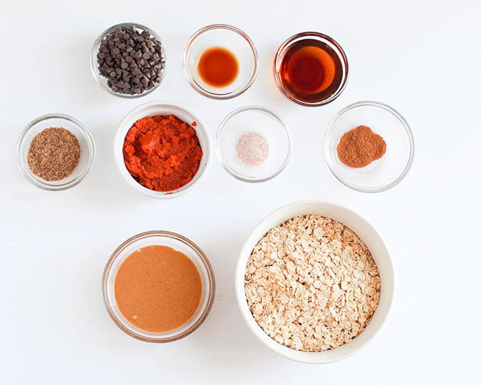 pumpkin chocolate chip granola bars ingredients