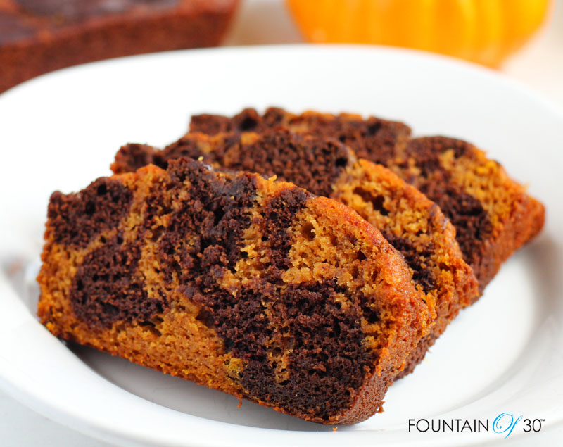 marbled pumpkin chocolate bread recipe fountainof30