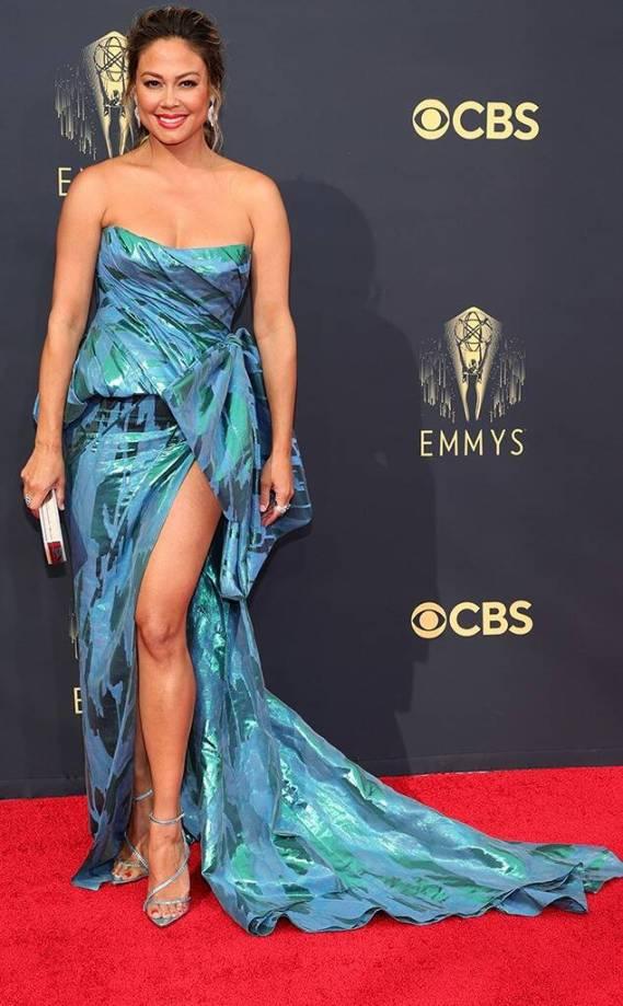 emmys 2021 fashion strapless