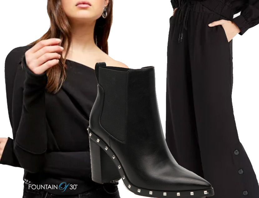 how to wear black over 40 fountainof30