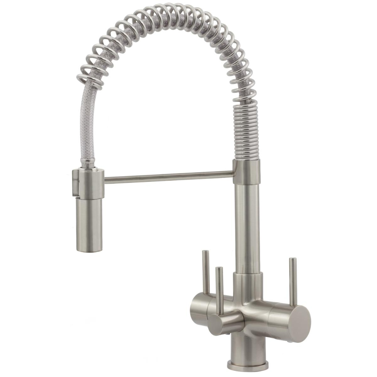 Milano Brushed Steel Spray 3 Lever 3 Way Kitchen Filter