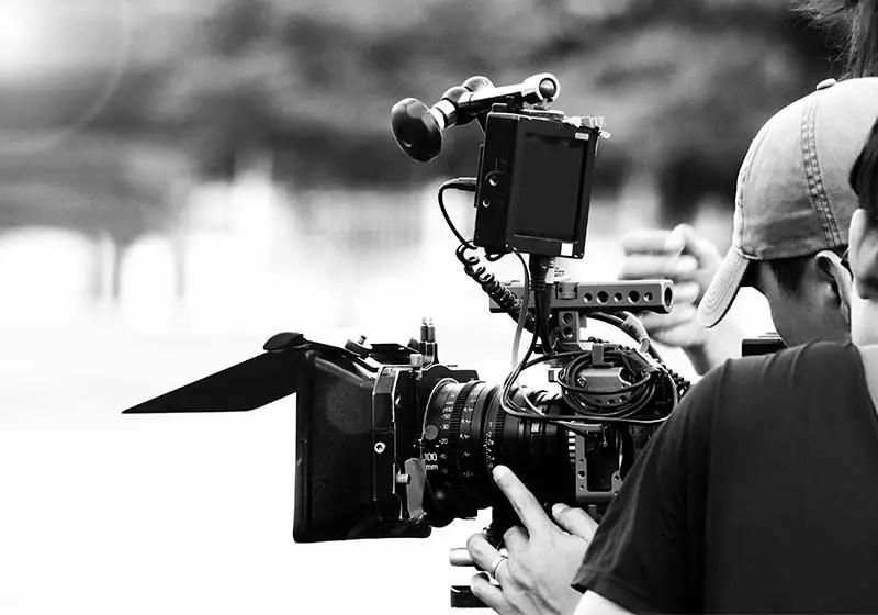 Videoproduktion med professionelt kamera