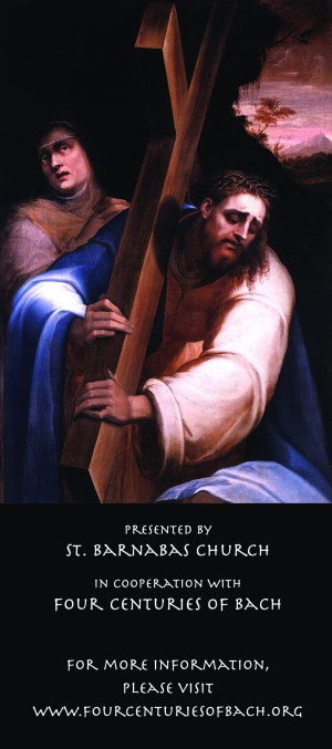 Bach's St. John Passion, Good Friday, March 25, 2016, at St. Barnabas Church, Toronto, ON