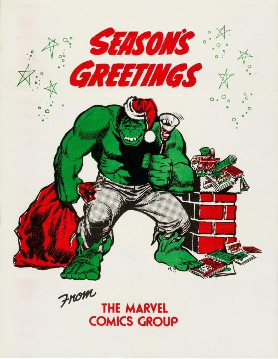 Marvel 1972 Holiday Card