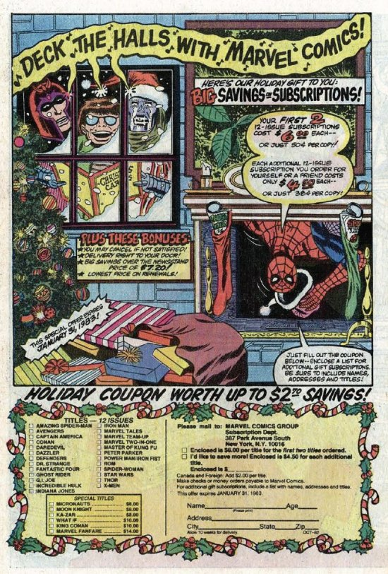 """Deck the Halls with Marvel Comics"""