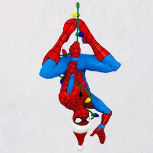 Santa Spidey ornament